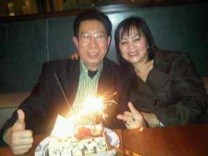 Mr Hendra Nilam n Wife Dr Cicilia at Crown Casino Restaurant, Melbourne